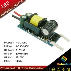 7x1w led bulb driver