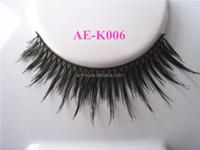 wholesale hand tied synthetic fashion style korea natural false eyelashes with false eyelash pack