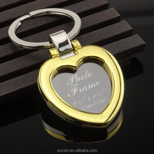 New Style Valentine's Day gift with magnet heart shape photo frame keychain