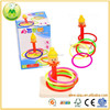 Intersting Wooden Intellectual Development Clown Ring Toys For Babies
