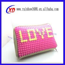 Fashion lady pixels handbag silicone bag purse with pixels and handbag with pixels