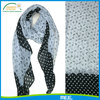 anchor and dots 100% silk polyester scarf