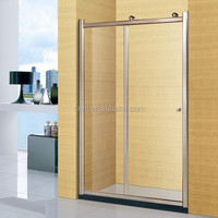 (A-8921) two sliding door decorative glass bath screen