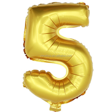 Golden color small size mylar globos number ballon