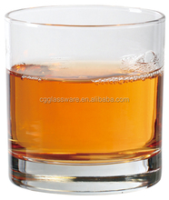 Round Fancy Bulk stemless thick bottom drinking water glass/240ml clear high quality cheap juice glass