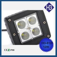 4 lamp bead 3.5'' work light 1080 k 12w jeep led headlight motorcycles