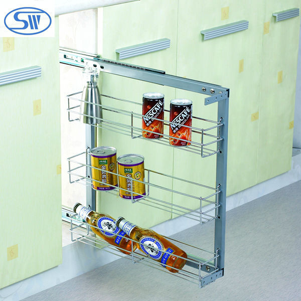 Wdj506-507 Kitchen Multifunctional Pull Out Basket Wire Spice Rack ...