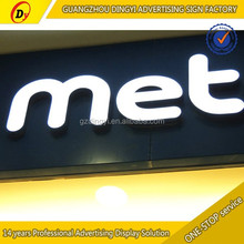 shop logo channel illuminated epoxy resin LED letter sign