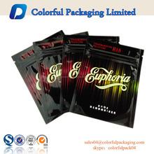 custom printed high quality three side heal wholesale empty tobacco zipper packaging