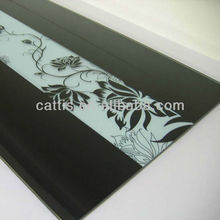8mm screen print black tempered glass dining table top