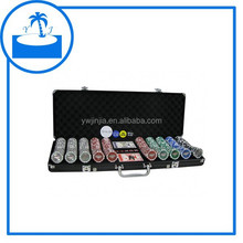 hot sale casino Las Vegas 500pcs poker chips set in Black/silver aluminum case