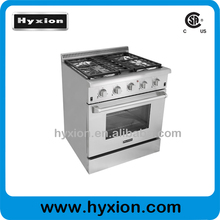 Commercial Stainless Steel Heavy duty Gas Stove with Grill and Oven