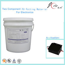 Two component polyurethane pouring sealant for electron component