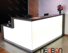 Solid surface beauty salon reception counter design, reception counter,manicure table nail bar wholesale