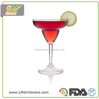 2015 Best seller plastic unbreakable margarita glass cup personalized unique wine glasses
