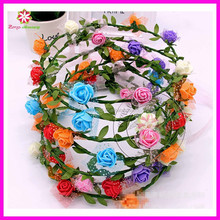 Handmade Fashion PE Foam Rose Flowers Headband for Party and Festival