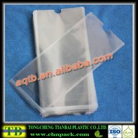 clear opp self adhesive socks bag with hole for inserting hook
