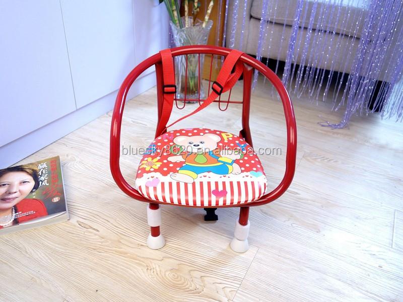 Impression de dessin animé En Métal Bébé Enfants Assis Chaise avec Sifflet