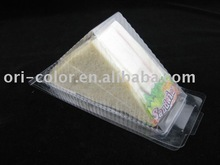 Disposable clear plastic sandwich packaging
