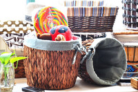 Nylon woven storage basket woven nylon basket