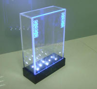 high transparent acrylic LED custom display case manufacture