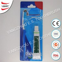 Convenient packaging toothpaste and toothbrush kit