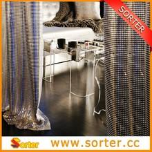 Mesh Fabric Decorative Materials Metallic Cloth Window Curtains