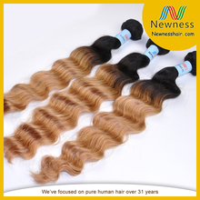 loose wave tow colored 2 tones ombre color fashion source hair weave x-pression ultra braid hair