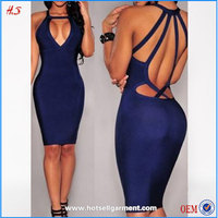 Top selling women sexy nighty dress picture sexy japanese prom dresses blue backless keyhole bodycon club party dress