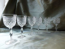 Beautiful engraved sherry glass with stem