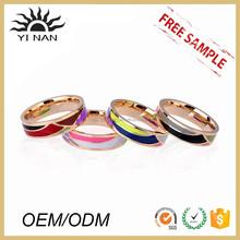 Enamel Pattern Jewelry Designer Characteristic Rings Drip Narrow Titanium Metal O Ring