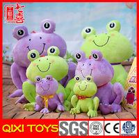 China stuffed green frog toys frog plush stuffed animals