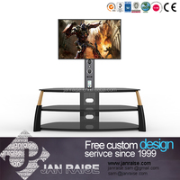 Reliable and high quality mdf tempered glass led tv stand