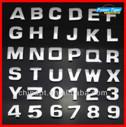 Metal chrome letters for car