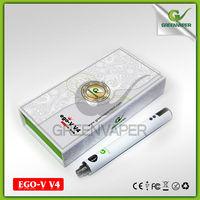 1300mah 3-6v /3-15w LCD biggest ego battery with ohm meter,Green vaper ego v4 ego v v ecig battery
