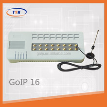 GSM VoIP gateway GOIP-16 wifi sip phone support SIP&H.323 protocal voip phone adpater