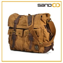 2015 men women leather color canvas messenger bag