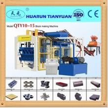 QTY10-15 concrete floor tile making machine price/ceramic terrazzo roof tile making machine/tile manufacturing machine