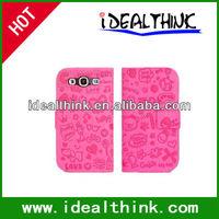 Cartoon Cute Faerie PU Leather Case Cover Skin for Samsung Galaxy S3 i9300