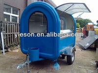 Hot hot dog vending carts for sale/mobile food trailer/mobile kitchen truck Food Kiosk French Cars Crepes YS-FV300-3