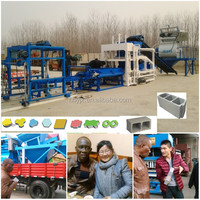 HONGBAOYUAN QTJ4-18 chinese fly ash brick making machine line