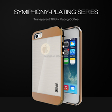 Slicoo brand Factory wholesale Plating metal case for iPhone 5 TPU+PC Combo