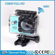 sous l'eau 30M 1080p full hd wifi sportscamera avec smallet taille