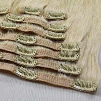 Fashion clip in hair extensions one piece clip in human hair extensions