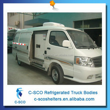 Refrigerated armored van body for vaccine medicine truck bodies
