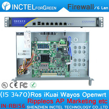 ROS 6 Gigabit Flow Control Router I5 3470 cpu 1000M 6 82574L 2 groups Bypass Model Number IN-RBI56
