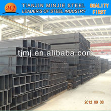 Hot finished welded erw black square steel pipe fence post export from China