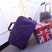 Cheap 57x35x34cm nylon purple color trolley bag sizes