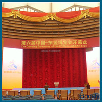 motorized stage curtain with remote control