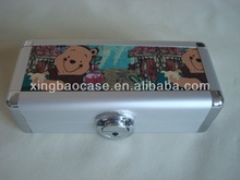Cheap case pencil,children pencil case with nylon and elastic bag inner,slide pencil case